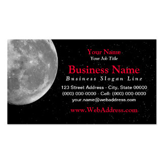 Moon / Space Photo Business Card - Black