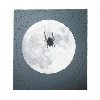 Moon spider notepad