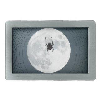 Moon spider rectangular belt buckle