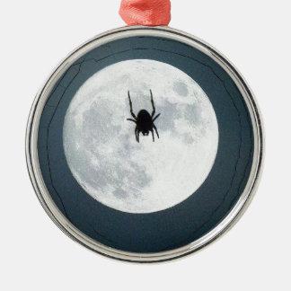 Moon spider Silver-Colored round ornament
