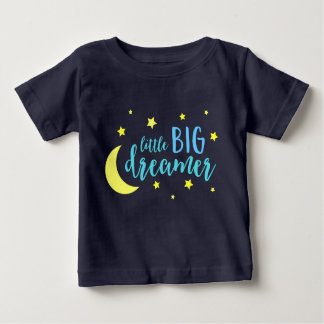 Moon & Stars Blue Little Big Dreamer Baby T-Shirt