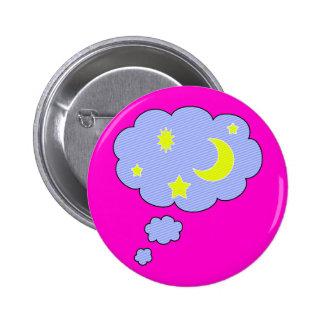 moon stars pinback button