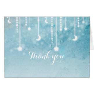 Moon & Stars Celestial Glow Shower Thank You Card