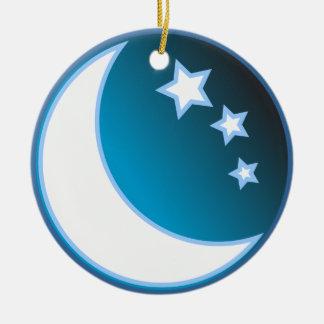 Moon & Stars Ceramic Ornament