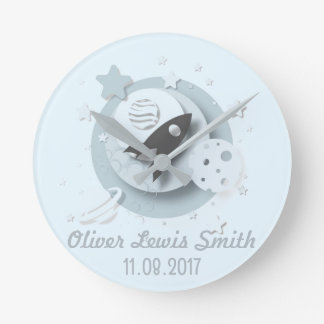 Moon & Stars Customisable Name/Date Clock