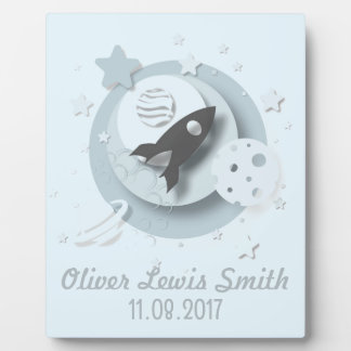 Moon & Stars Plaque with Easel