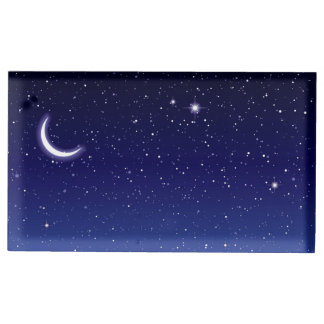 Moon & Stars Scene Table Card Holder