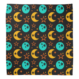 Moon Stars Starry Sky Galaxy Astrology Wiccan Bandana