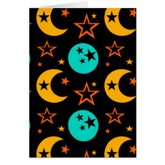 Moon Stars Starry Sky Galaxy Astrology Wiccan Card