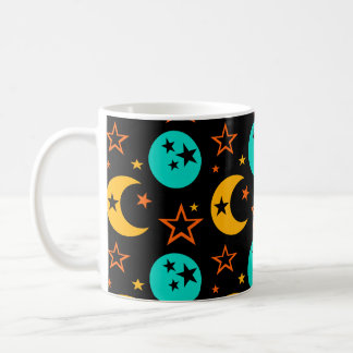 Moon Stars Starry Sky Galaxy Astrology Wiccan Coffee Mug