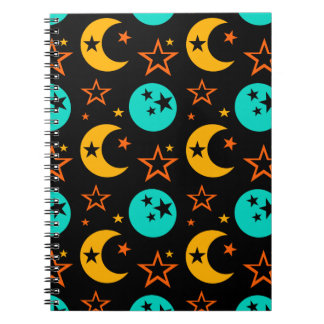 Moon Stars Starry Sky Galaxy Astrology Wiccan Notebook