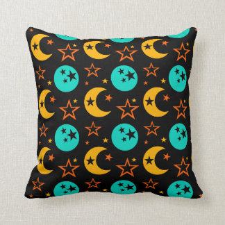 Moon Stars Starry Sky Galaxy Astrology Wiccan Throw Pillow