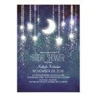 Moon Stars & String Lights Bridal Shower Card