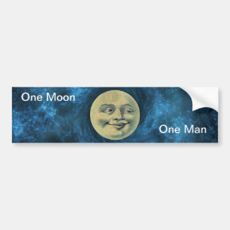 Moon Sticker by Pâtisseries Poétique de Muse Bumper Sticker