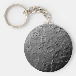Moon surface basic round button keychain