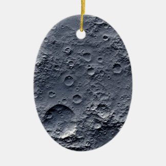 Moon Surface Ceramic Oval Ornament