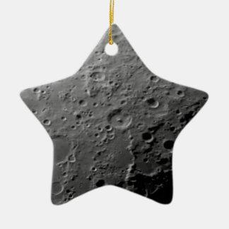 Moon surface ceramic star ornament
