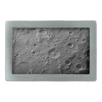 Moon surface rectangular belt buckle