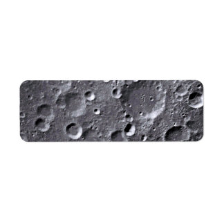 Moon surface return address label