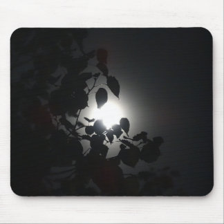 Moon through leaves mouse pad