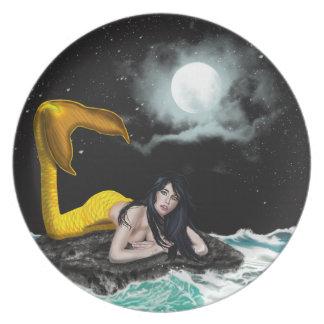 Moon Tide Mermaid Plate