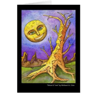 Moon & Tree Greeting Card