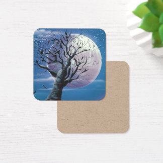 Moon Tree Square Business Card