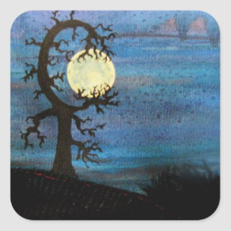 Moon Tree Sticker