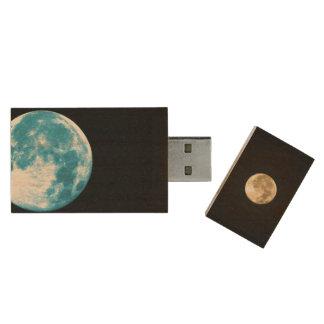Moon USB Stick Wood USB Flash Drive