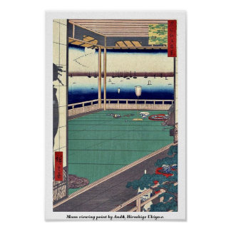 Moon viewing point by Andō, Hiroshige Ukiyo-e. Poster