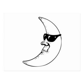 Moon Wearing Sunglasses Postcard