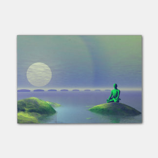 moon white and hills green post-it® notes