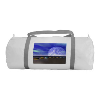 moon white and stone and steps gym bag