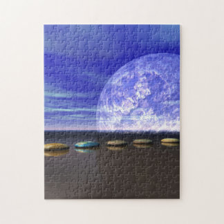 moon white and stone and steps jigsaw puzzle