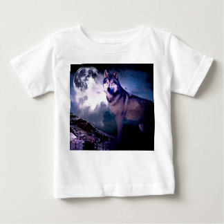 Moon wolf - gray wolf - wild wolf - snow wolf baby T-Shirt