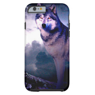 Moon wolf - gray wolf - wild wolf - snow wolf tough iPhone 6 case