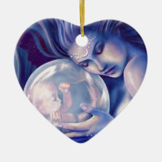 Moonborn - Mermaid and Baby Ceramic Ornament