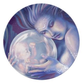 Moonborn - Mermaid and Baby Plate