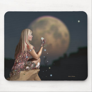Moonflower Mouse Pad