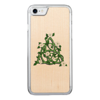 Moonflower triquetra carved iPhone 8/7 case
