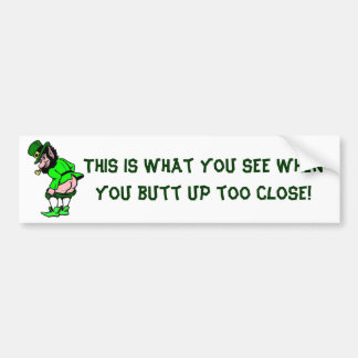Mooning Leprechaun Bumper Sticker