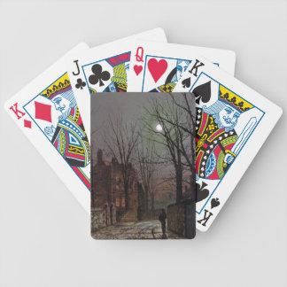 Moonlight by John Atkinson Grimshaw Poker Deck