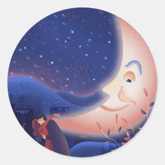 Moonlight Classic Round Sticker