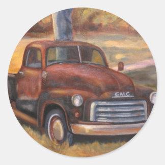 Moonlight, close_up_of_truck.346212024 classic round sticker