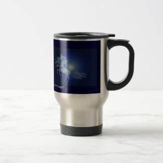 Moonlight Dancing Unicorn - travel/commuter mug