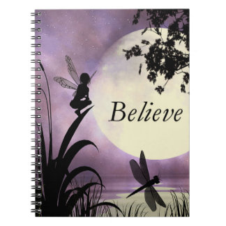Moonlight fairy believe notebook