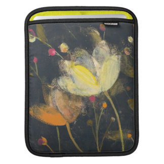 Moonlight Garden on Black iPad Sleeve