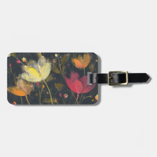 Moonlight Garden on Black Luggage Tag