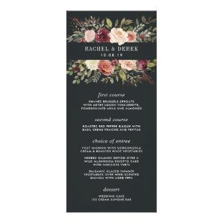 Moonlight Garden Wedding Menu Card