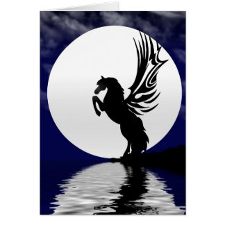 Moonlight Glow Greeting Card